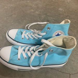 Blue high top converse brand new